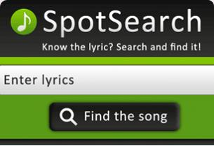 Screenshot from SpotSearch - Android app interface