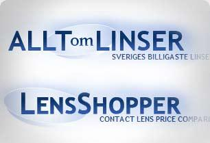 Screenshot from Allt om Linser - Lens Affiliate Website